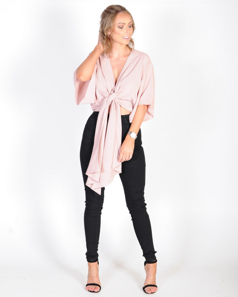 TIGER MIST ESTELLE TOP - BLUSH
