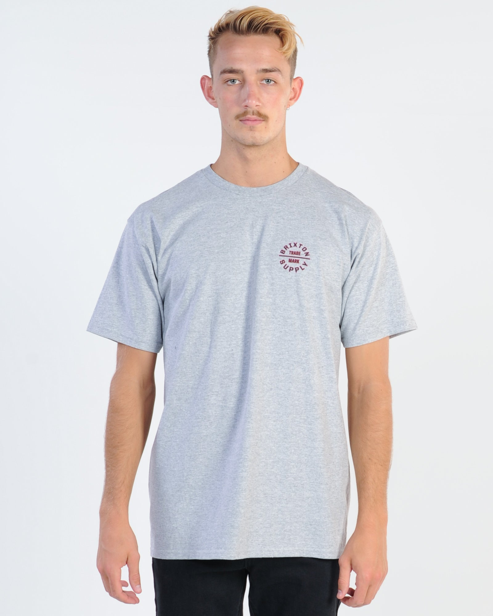 Brixton Oath V Tee - Heather Grey