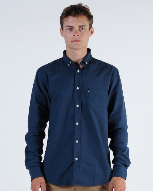 Academy Dillion L/S Shirt - Charcoal