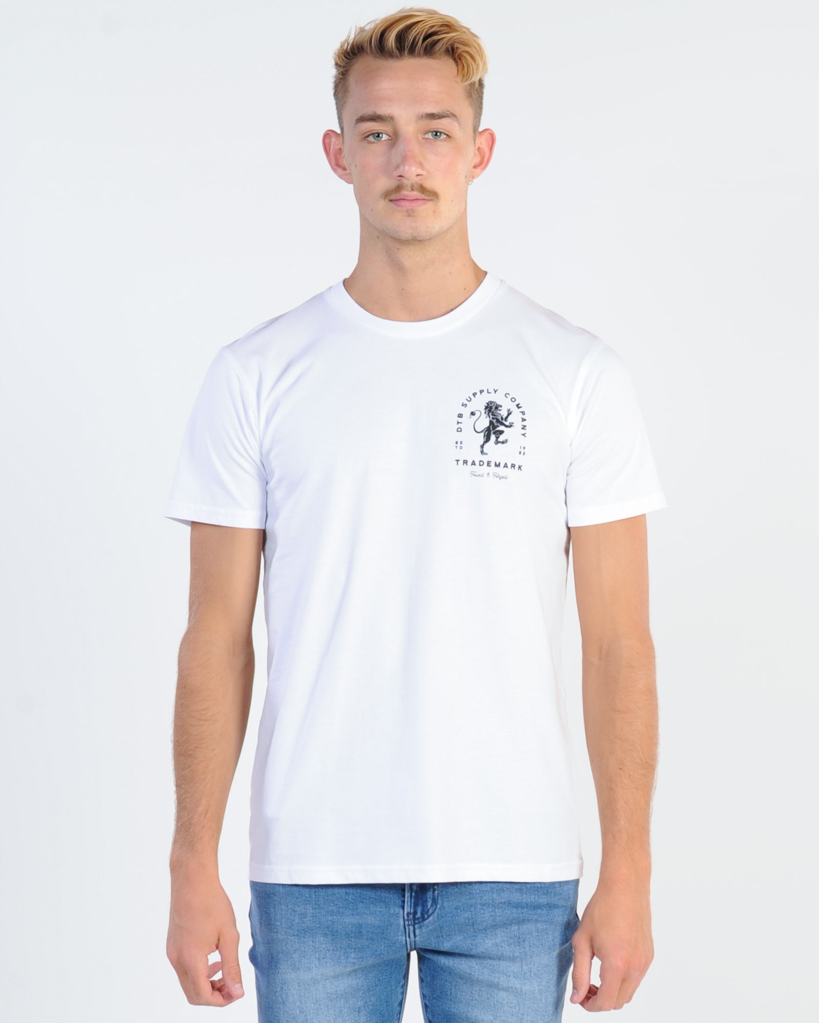 Dtb Supply Lion Heart Tee - White