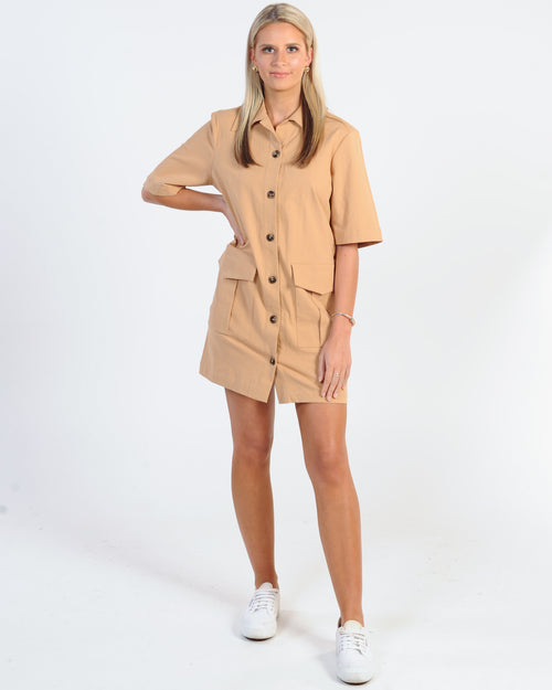 The Fifth Label Fateful Mini Dress - Natural