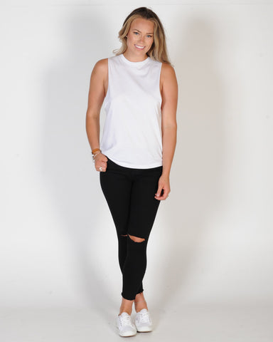 AS COLOUR BARNARD MUSCLE TOP - WHITE