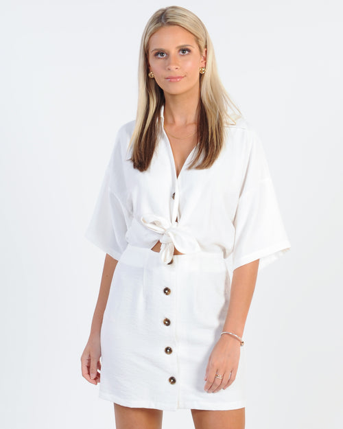 The Fifth Label Hideaway Mini Dress - Ivory