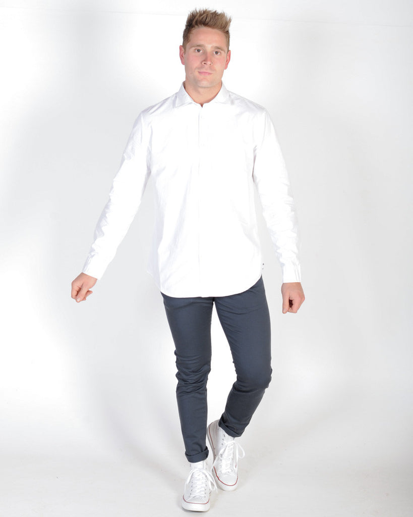 INDUSTRIE RUMLEY L/S SHIRT - WHITE