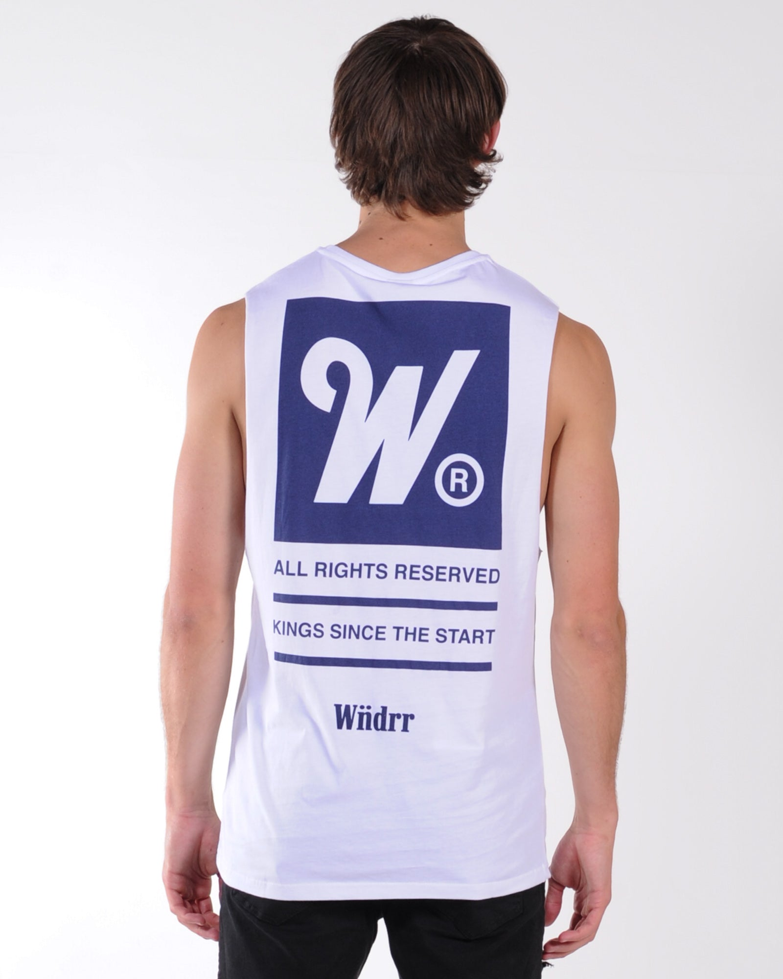 Wndrr Overdue Muscle Top - White