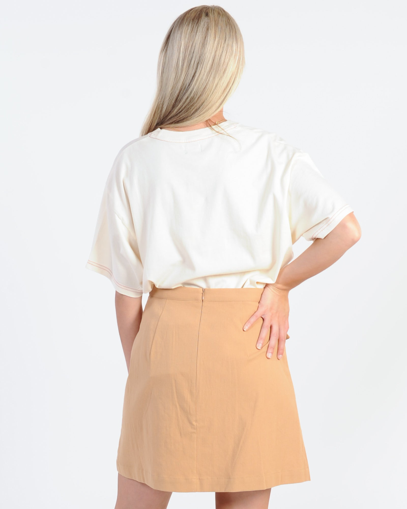Afends Country Oversized Tee - Ivory