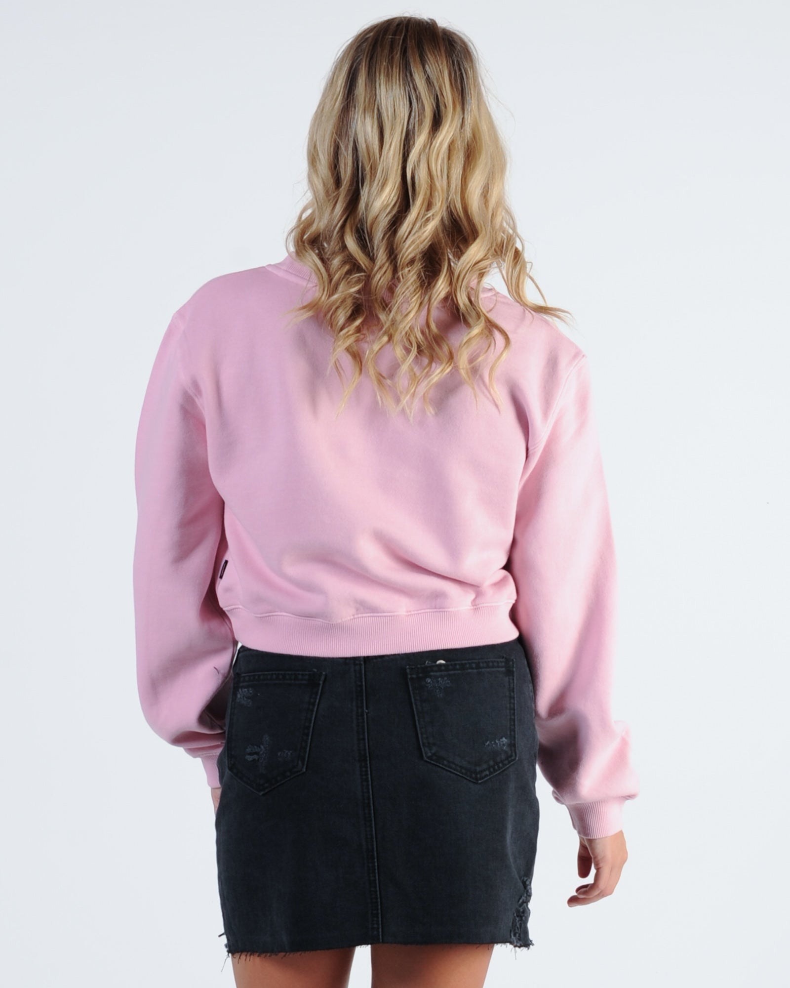 Afends Robyn Crew Neck Sweat - Prism Pink