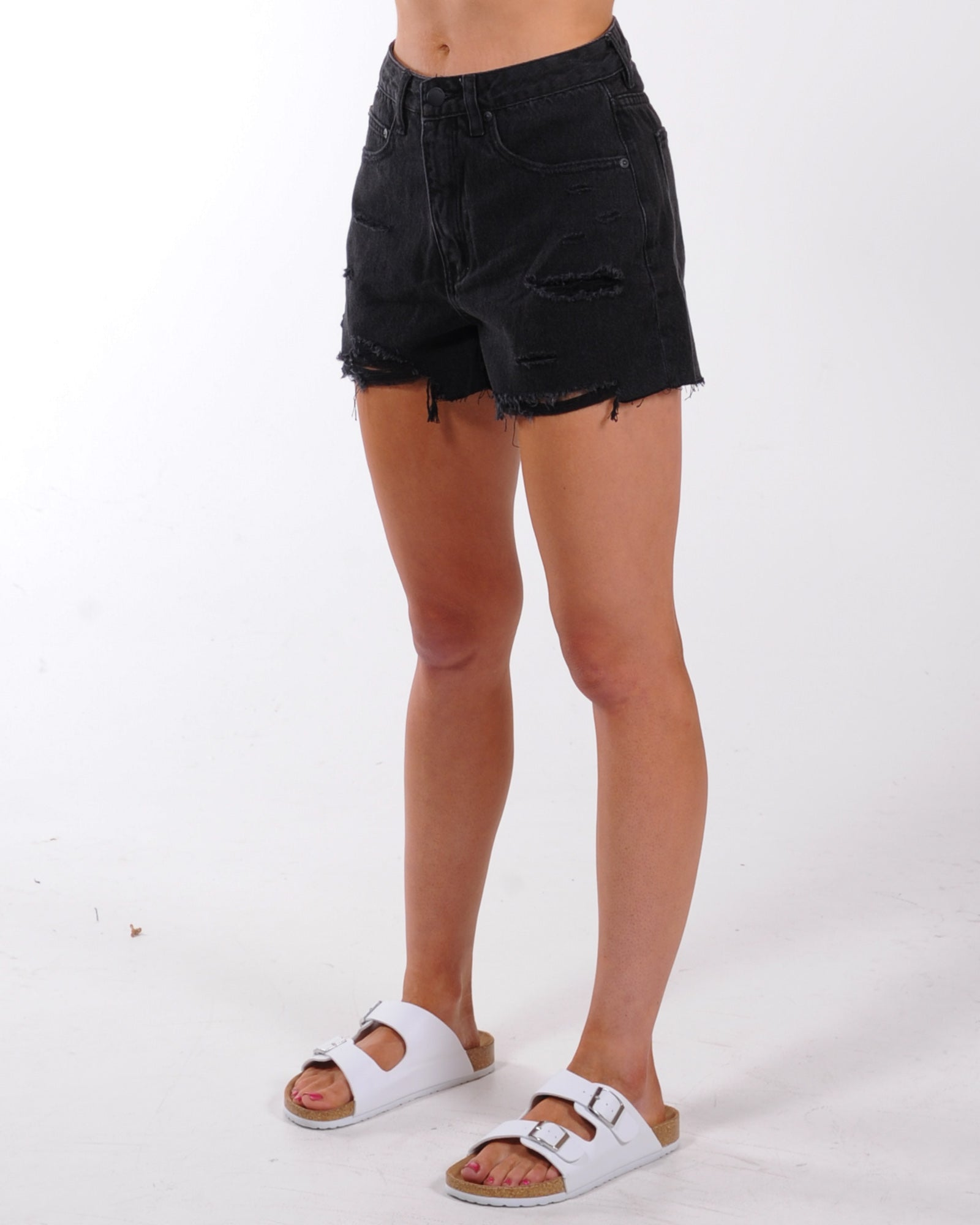 All About Eve Quinn Denim Short - Washed Black