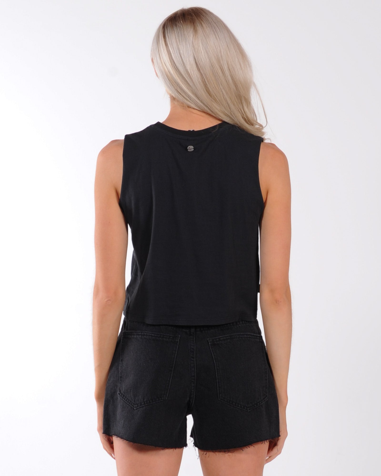 All About Eve Lantern Knot Tank - Washed Black
