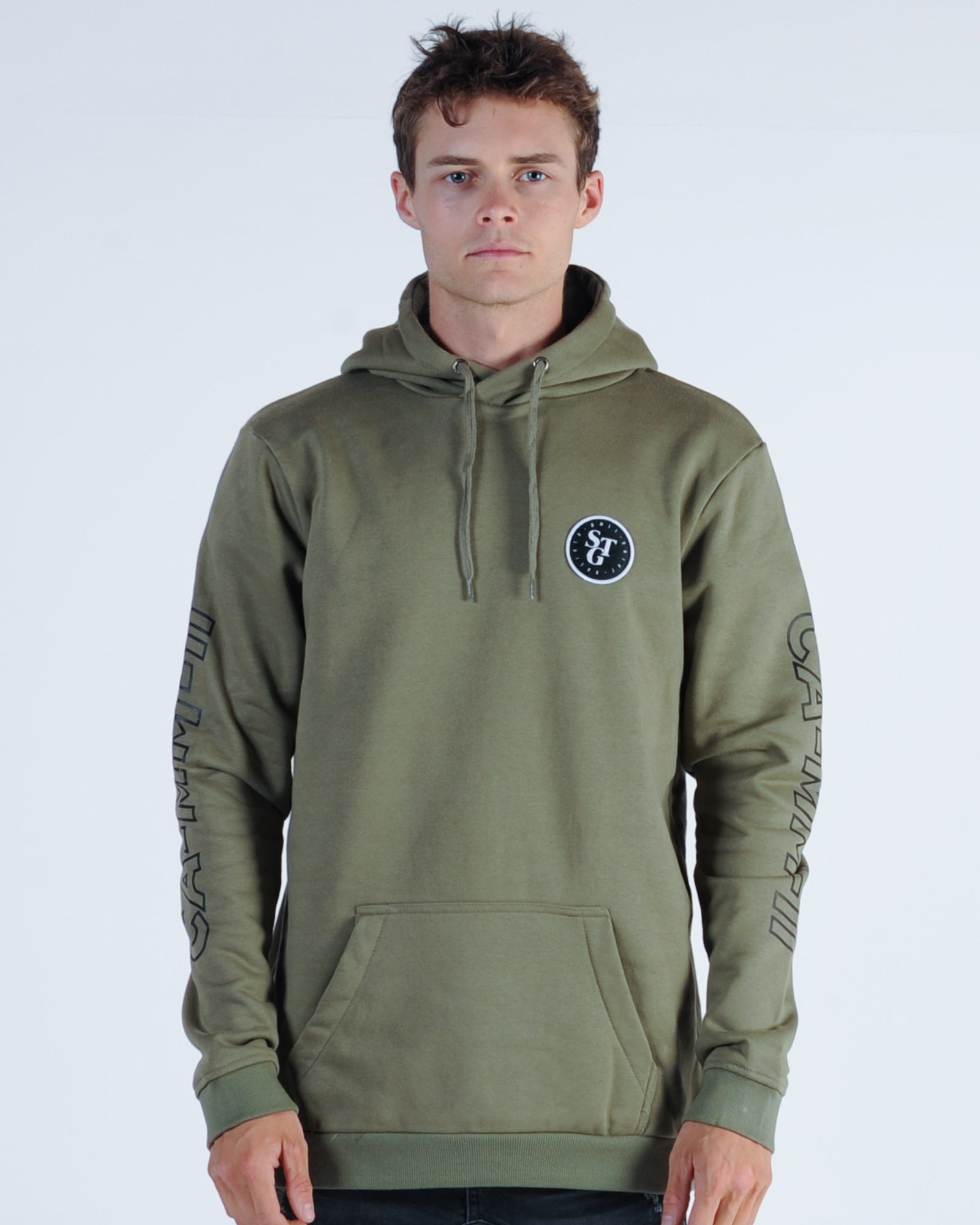 St. Goliath Signal Hood Sweat - Khaki