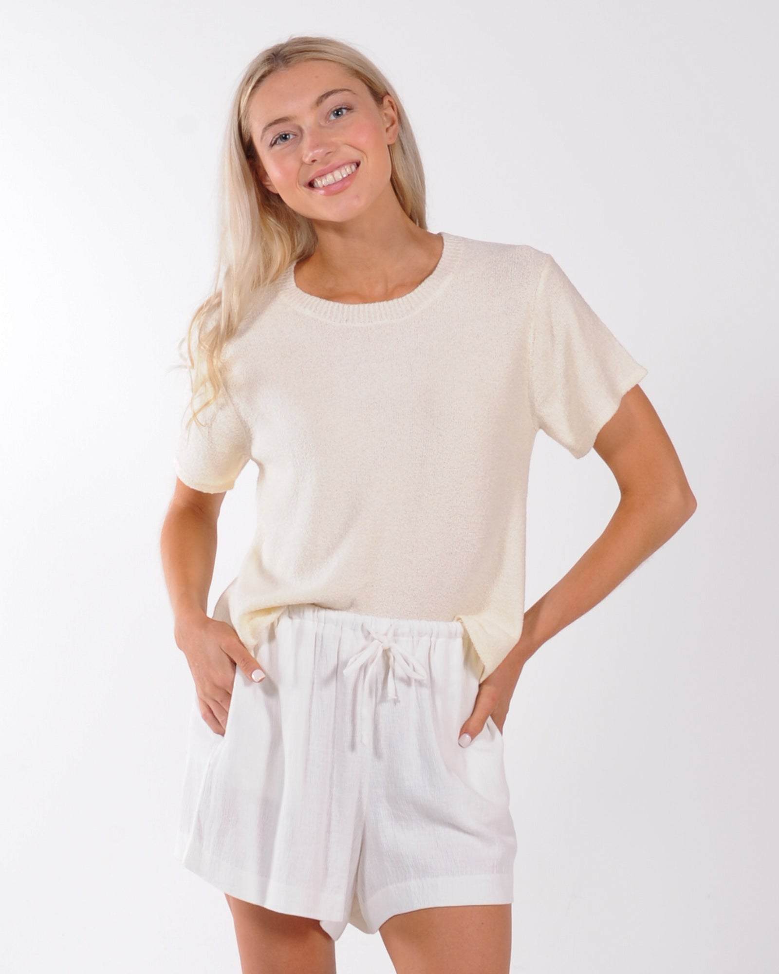 Nude Lucy Coops Knitted Tee - Cream