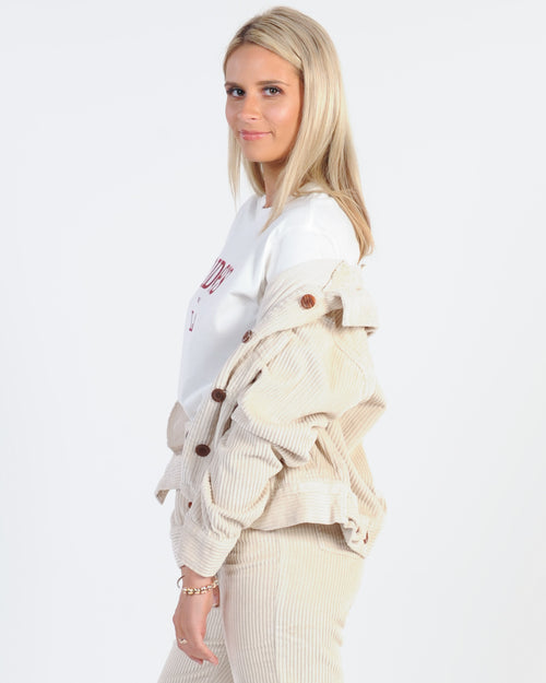 Backstage Biker Jacket - Nude