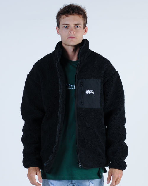 Stussy Tribe Sherpa Jacket - Black