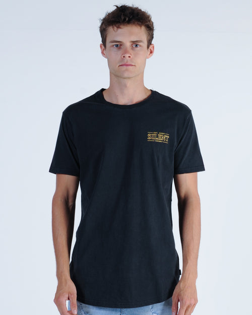Silent Theory Mystery Tee - Washed Black