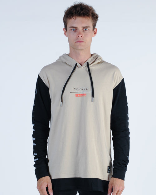 St. Goliath Proffer L/S Hooded Tee - Tan