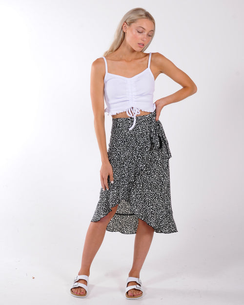 MINK PINK SILVER LINING SKIRT - SILVER