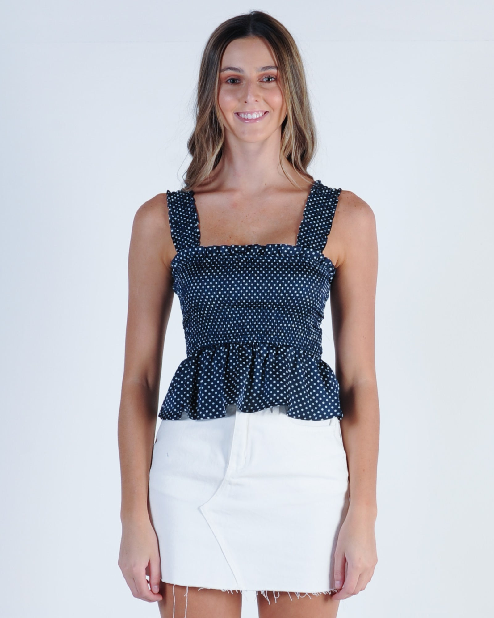 The Fifth Label Fountain Top - Navy White