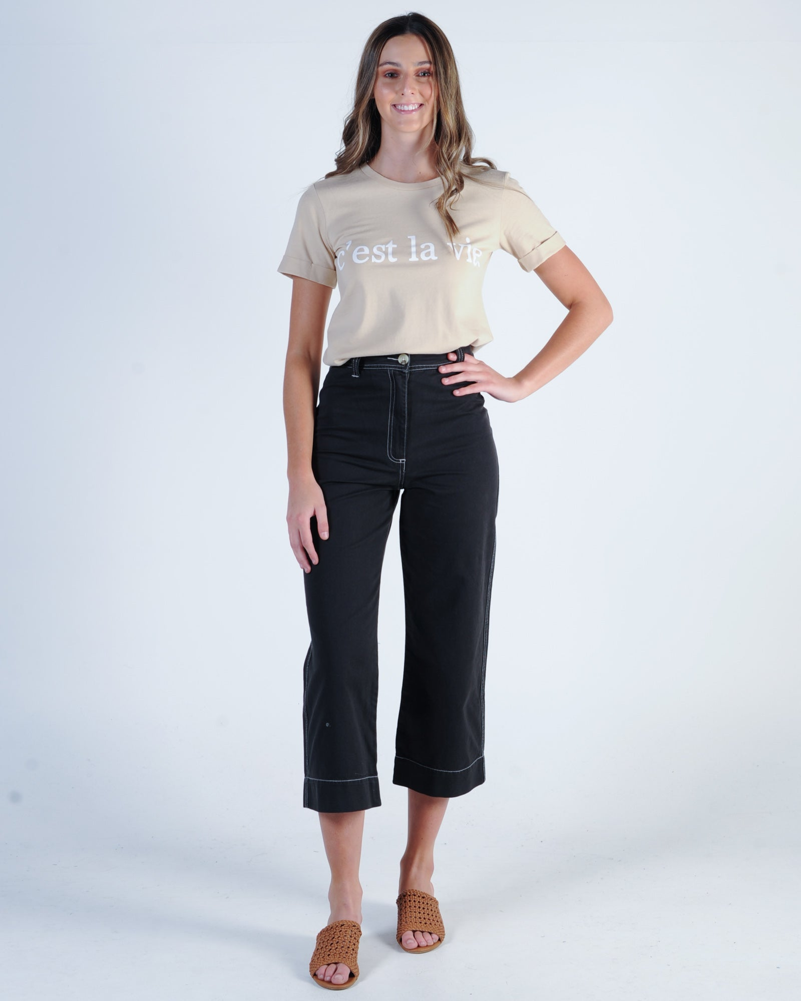 Nude Lucy Kahlo Wide Leg Pant - Washed Black