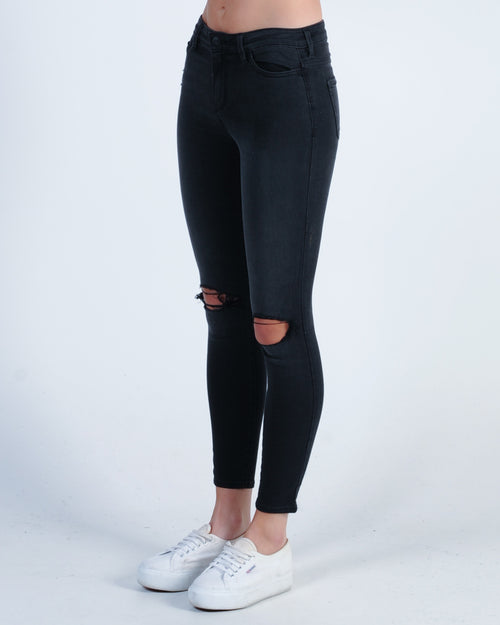 Riders Mid Ankle Skimmer Jean - Onyx Black