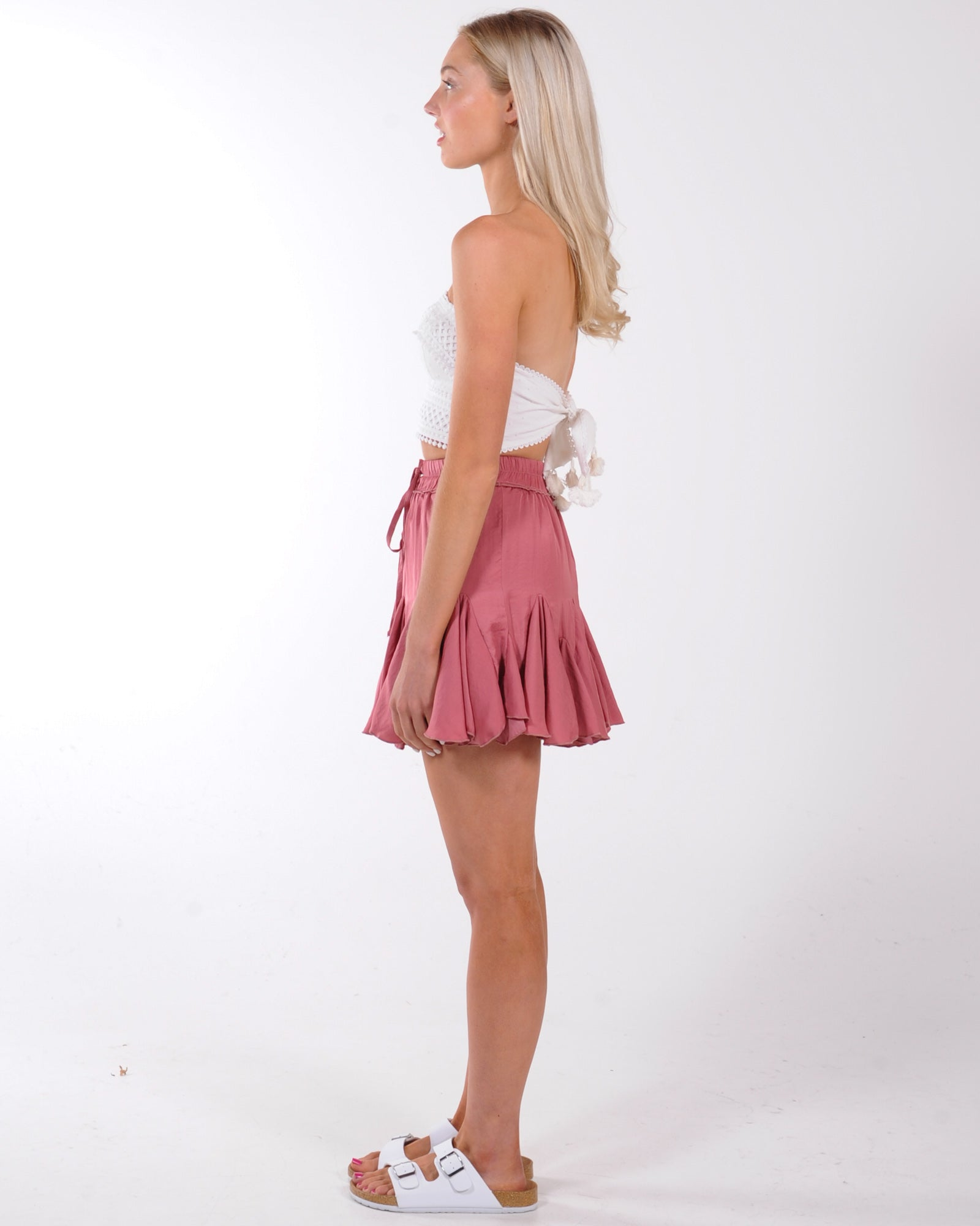 Time Out Mini Skirt - Rose