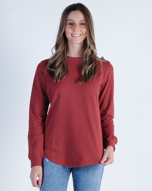 Silent Theory Classic Crew Sweat - Burgundy