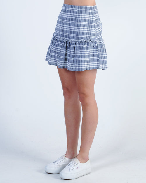 The Fifth Label Ivy Stripe Skirt - Navy White
