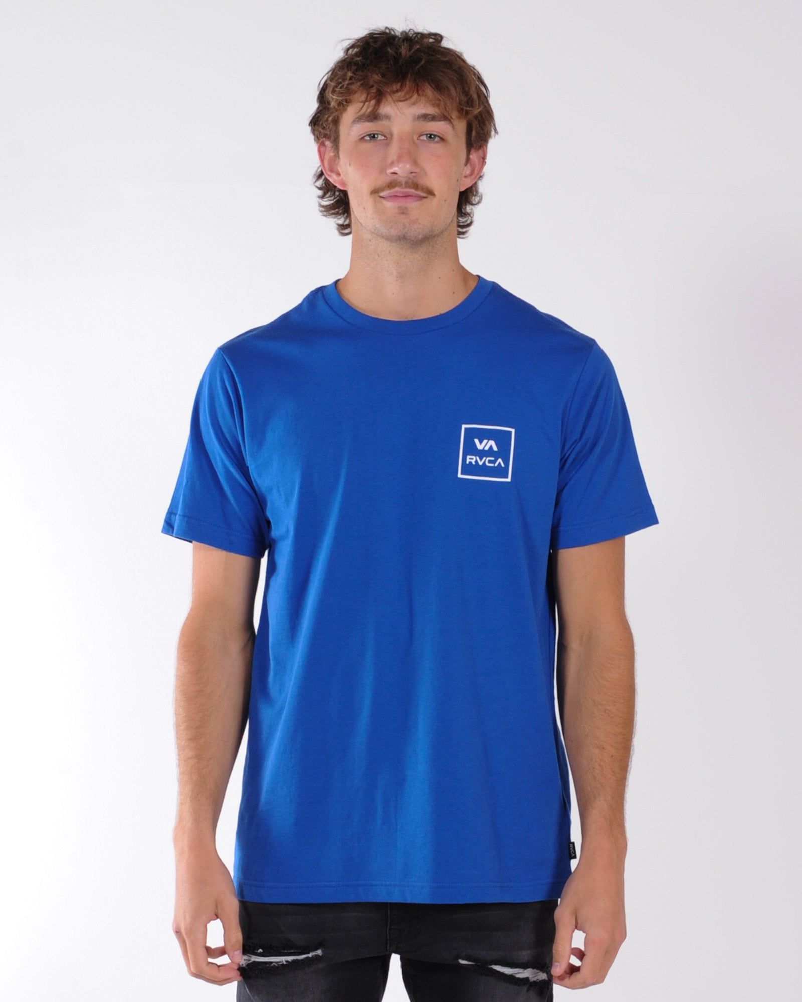 Rvca Va All The Way Tee - True Blue