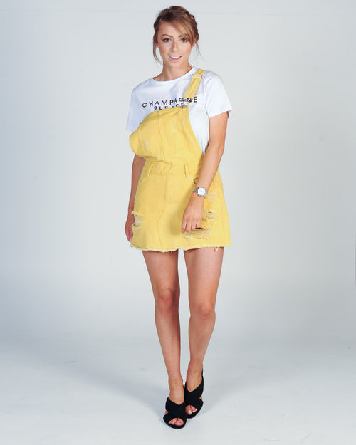 DISTRESSED PINNY - YELLOW