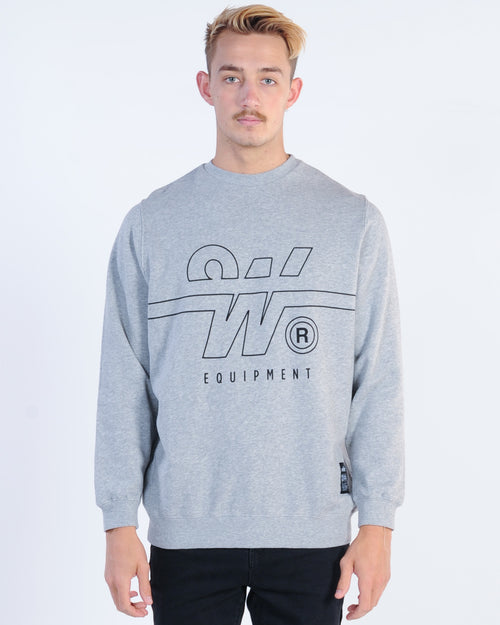 Wndrr Overtime Crew Sweat - Grey Marle