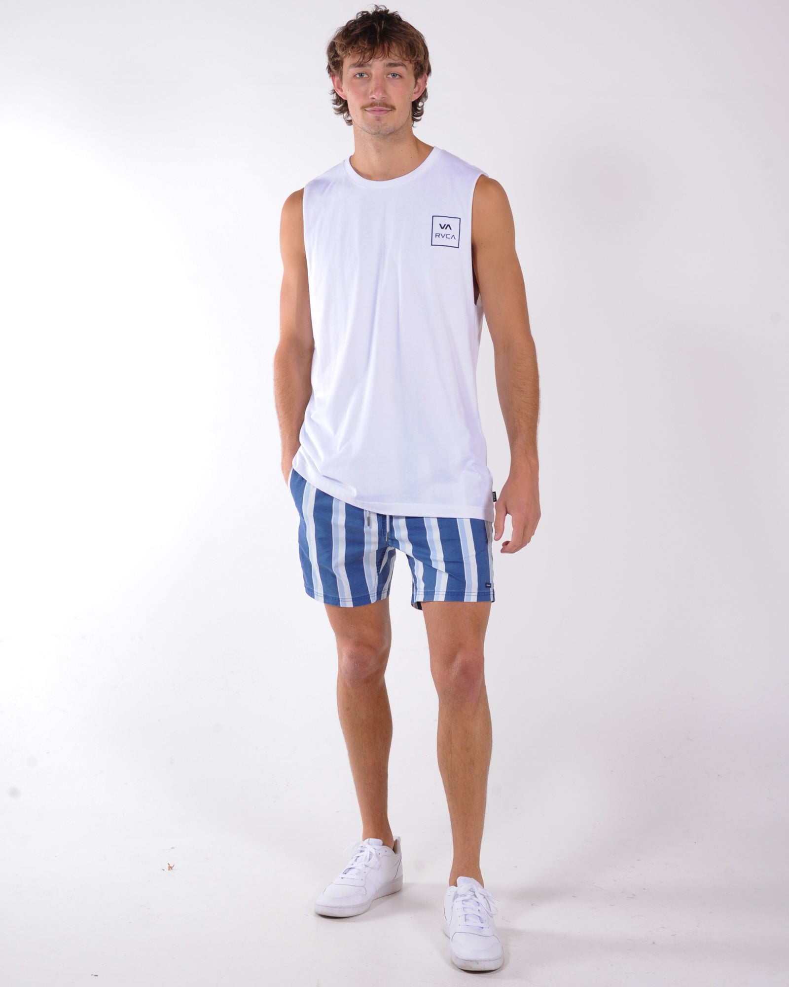 Rvca Va All The Way Muscle - White