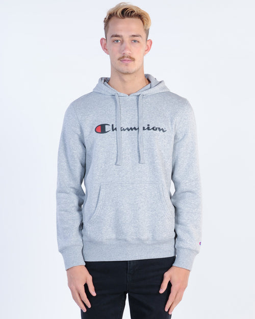Champion Script Hood Sweat - Grey Marle