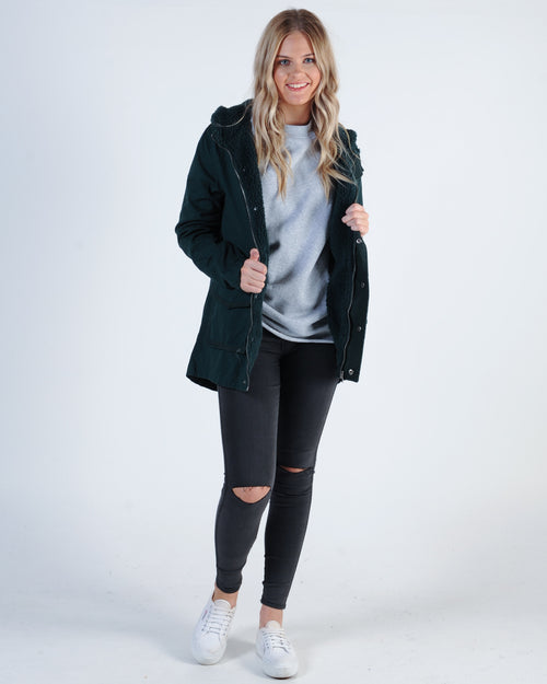 All About Eve Fundamental Utility Jacket - Forest