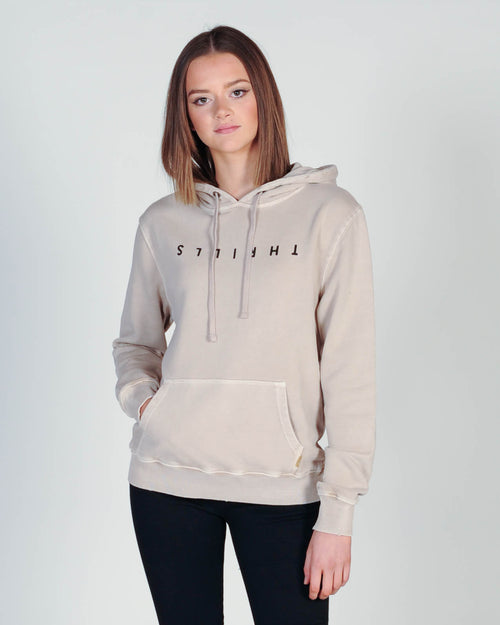 Thrills Classic Hood Sweat - Pale Sand