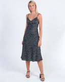 LETS BE FRIENDS SWING DRESS - BLACK PRINT