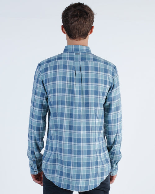 Industrie Sommerset L/S Check Shirt - Green Multi