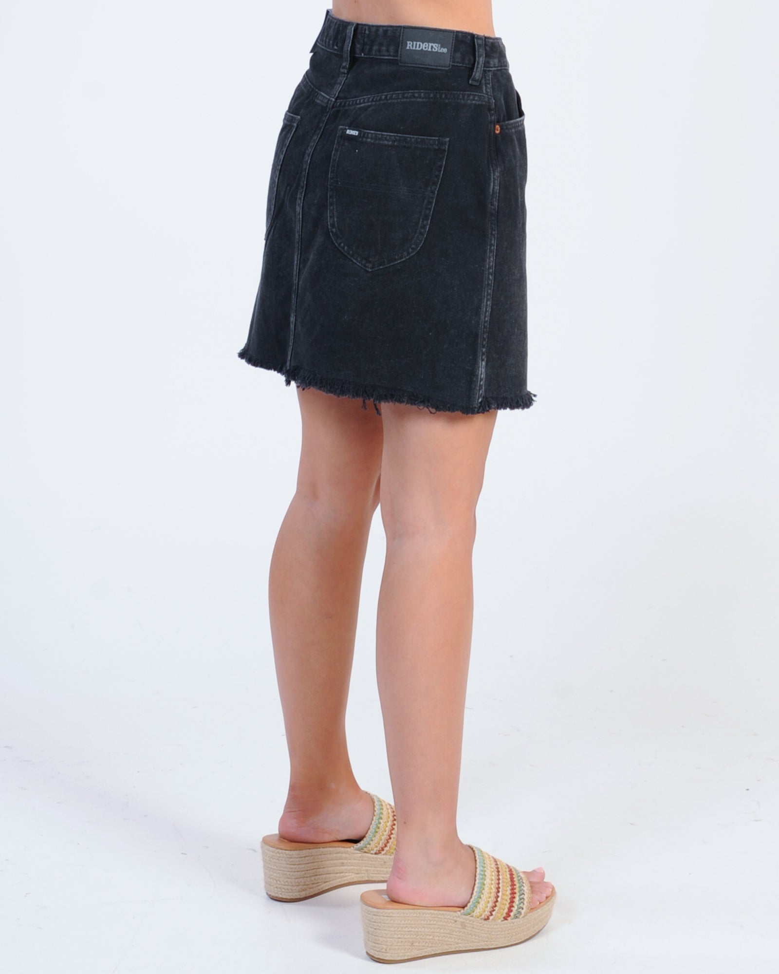 Riders Girlfriend Skirt - Stone Black