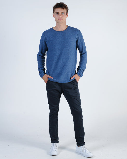 Industrie Brighton Knit Jumper - Navy/White
