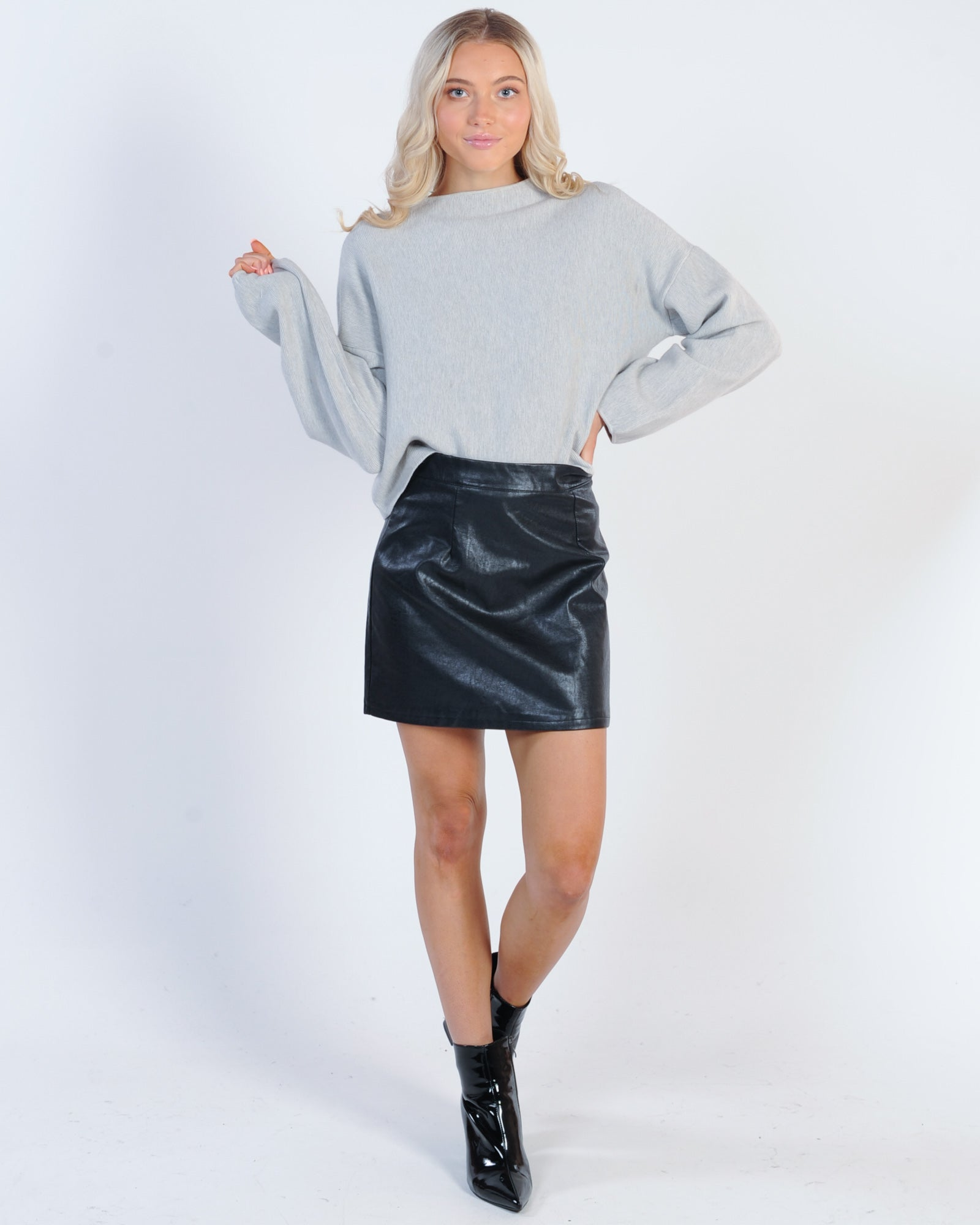 Almost Famous Faux Leather Skirt - Black