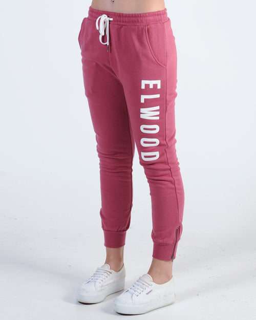 Elwood Huff N Puff Trackpant - Deep Red
