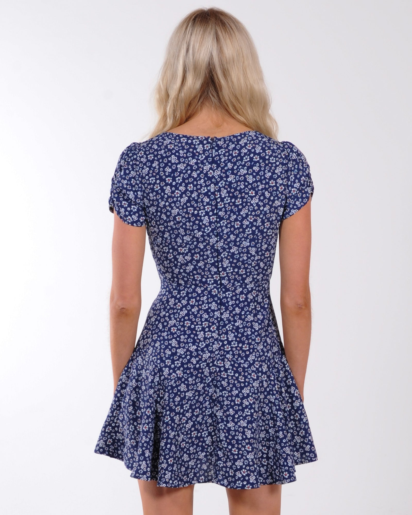 A New Chapter Floral Dress - Navy
