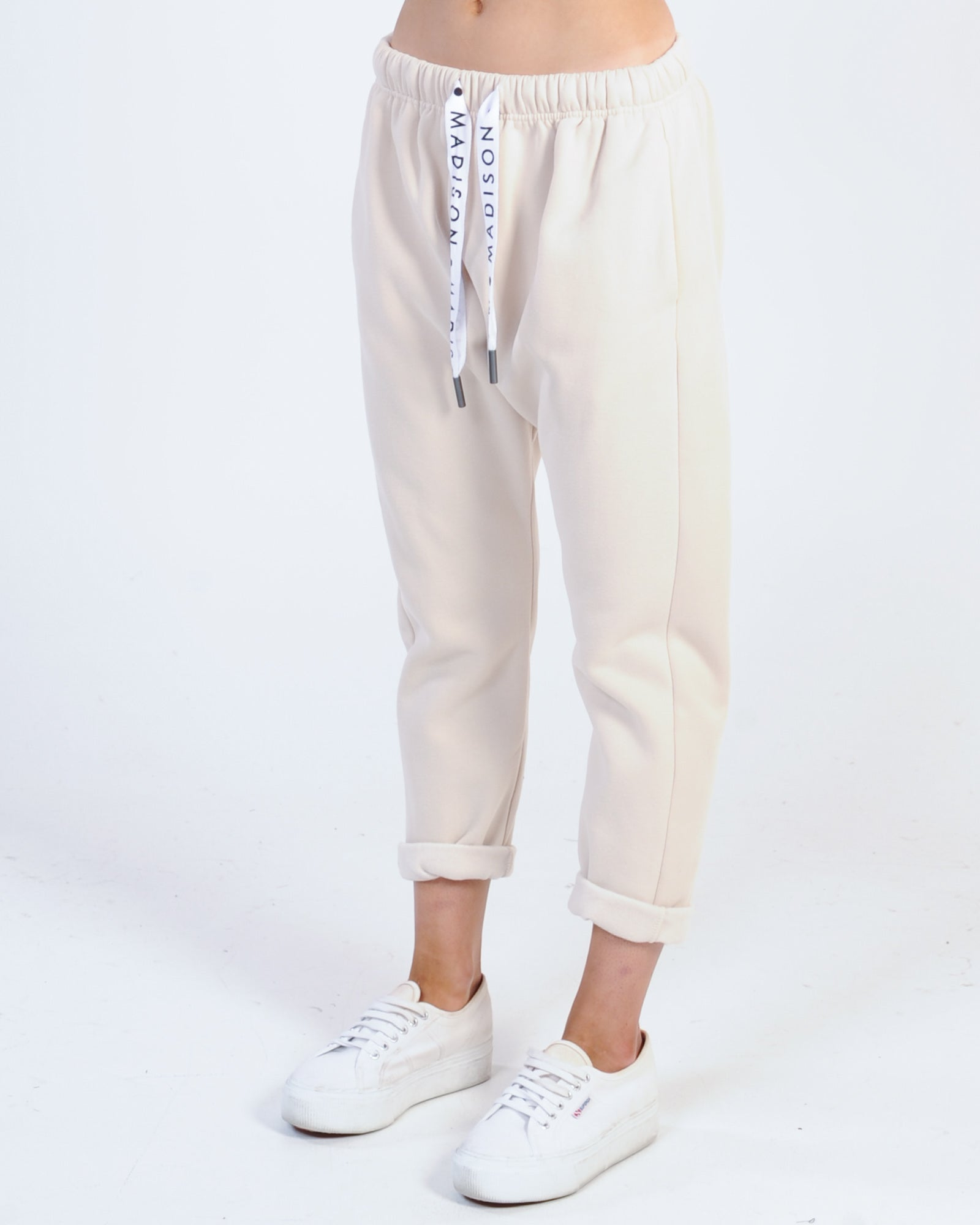 Madison The Label Cody Drop Crotch Pants - Sand