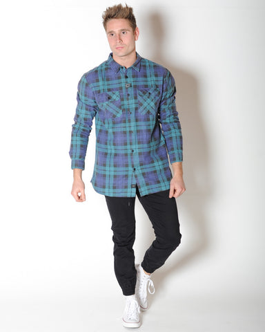 GLOBE DION NAPLES L/S SHIRT - BREEZE GREEN