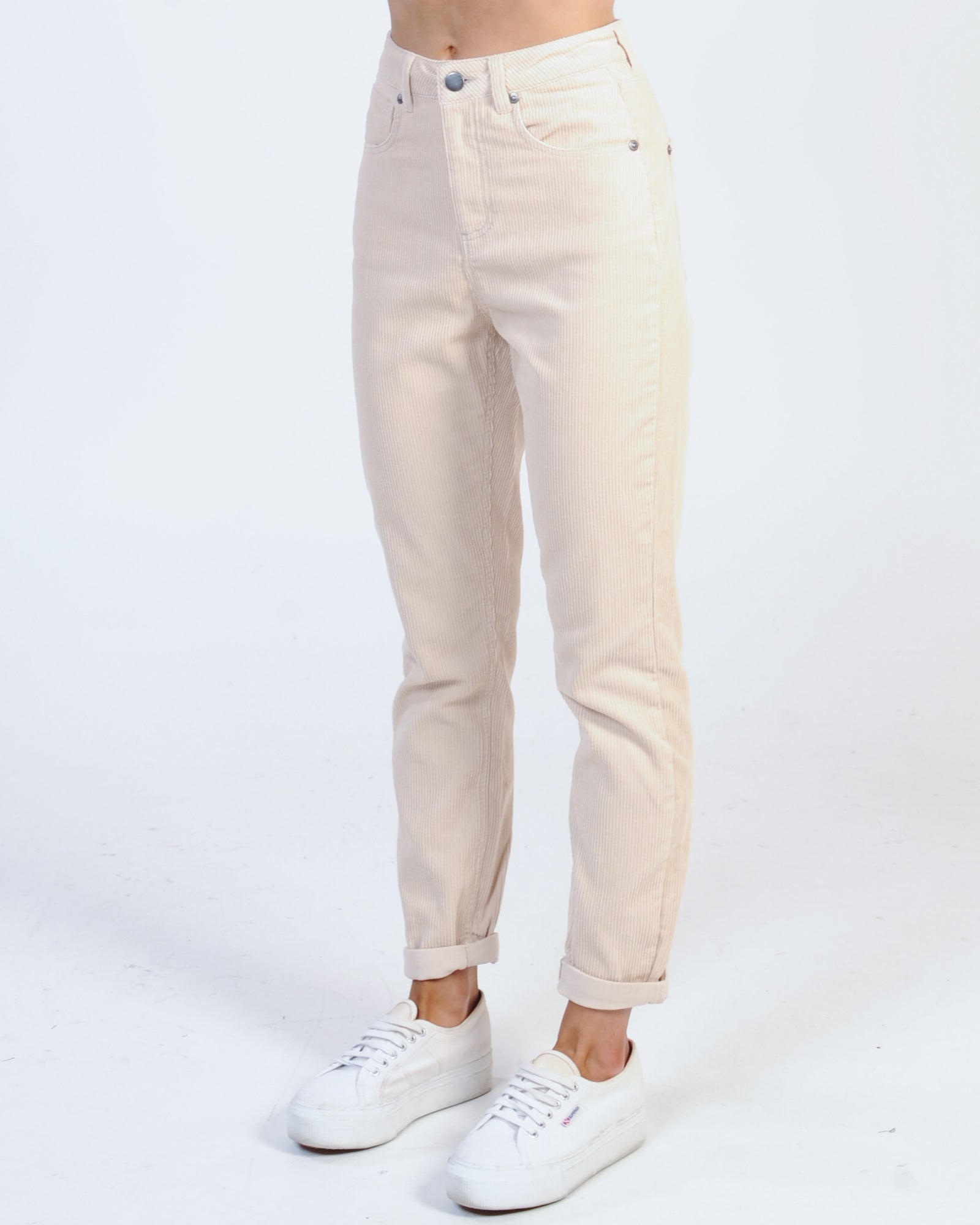 All About Eve Greta Cord Pant - Vintage White