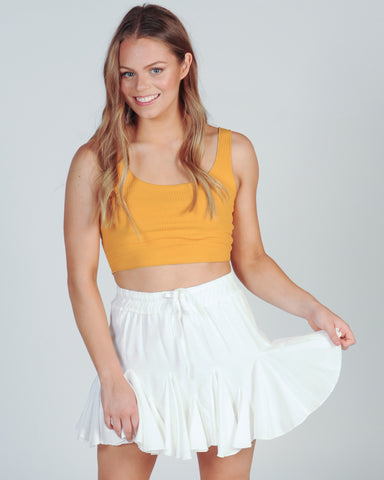 RAINBOW TASSLE TOP - WHITE