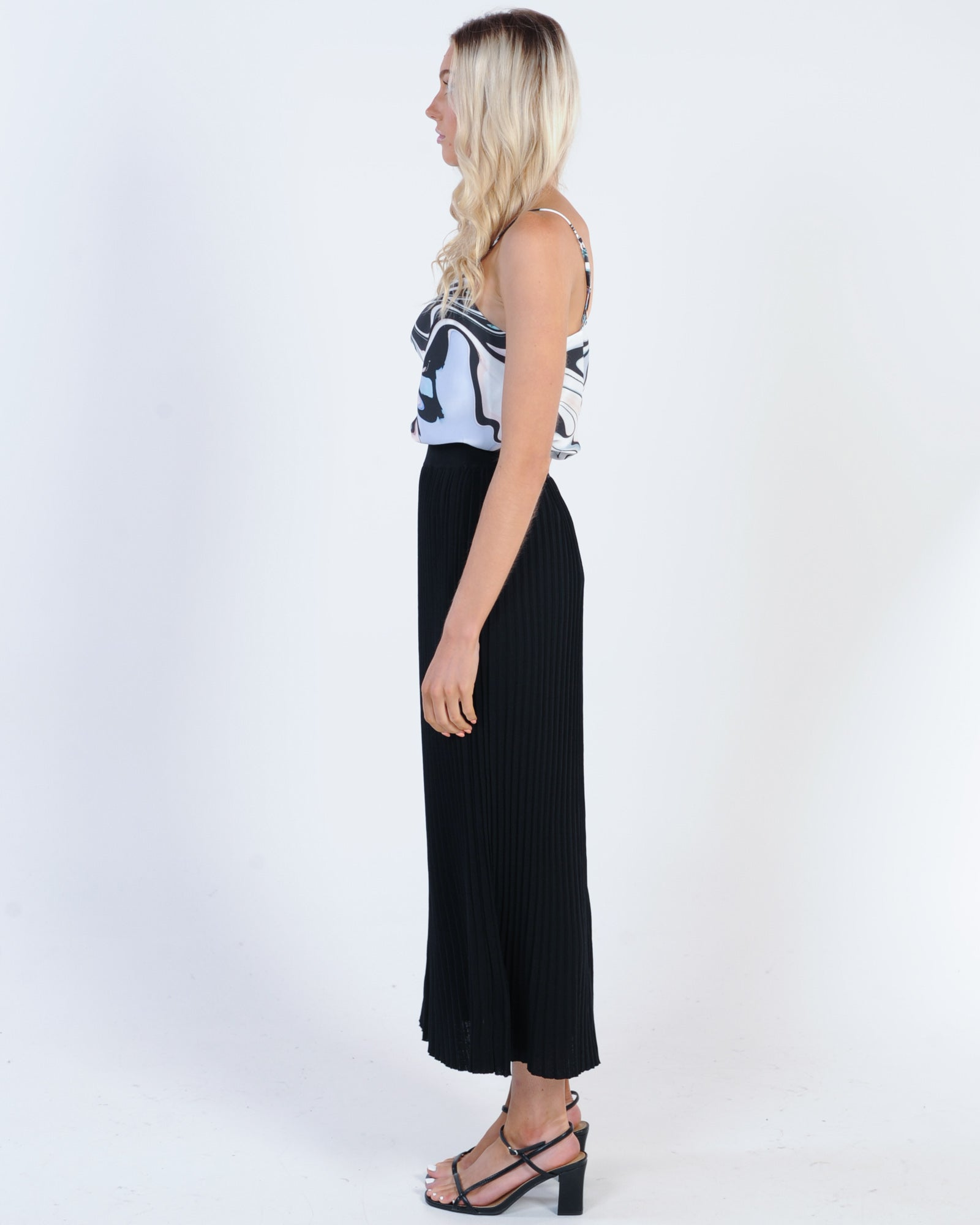 Materialistic Midi Skirt - Black
