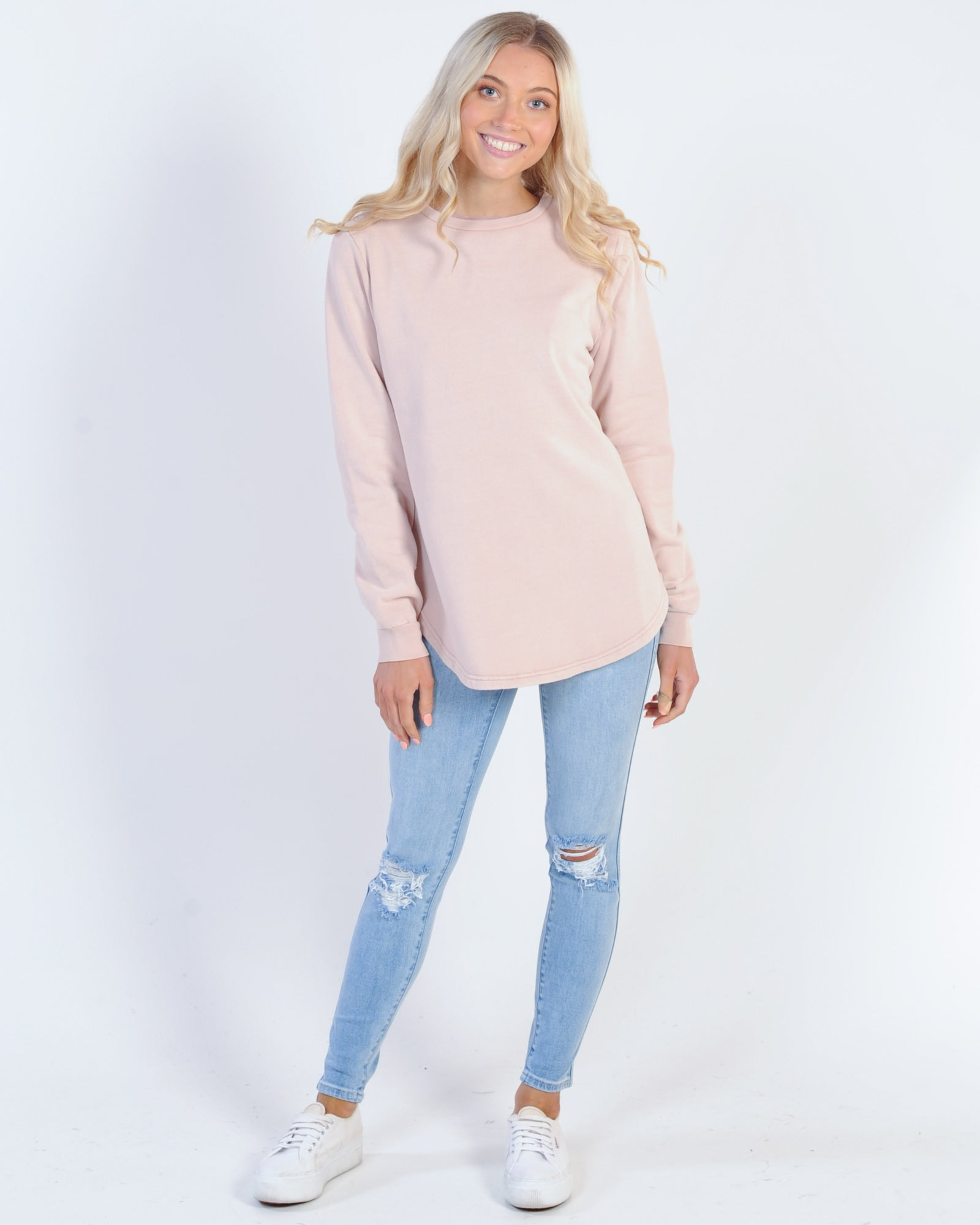 Silent Theory Classic Crew Sweat - Dusty Pink