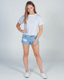SUMMER HANGOUT TOP - BLACK/WHITE