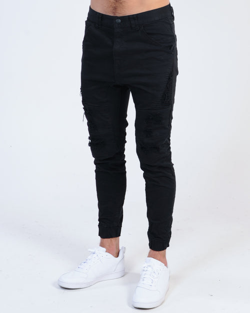Kiss Chacey Hydra Denim Jogger - Jet Black