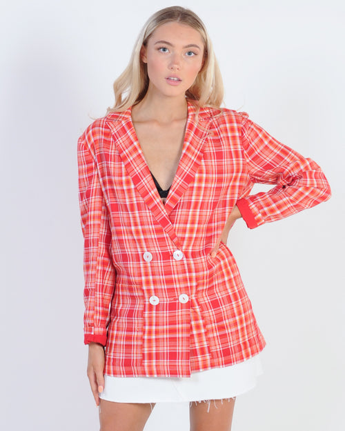 The Fifth Label Mindless Blazer - Red Check