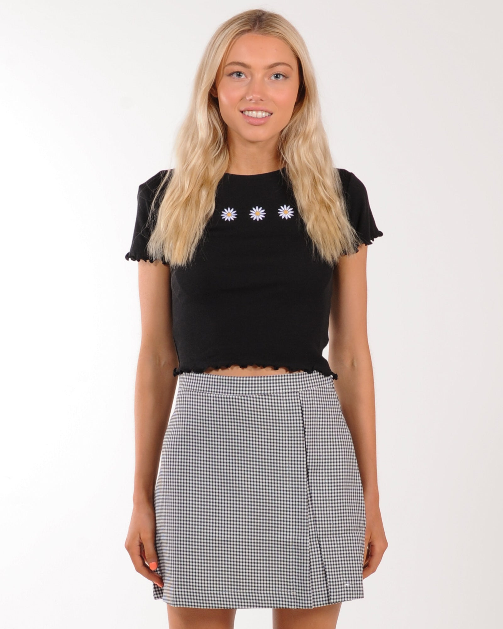 All About Eve Daisy Days Tee - Black